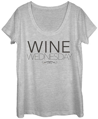 Chin Up Apparel Women's Tee Shirts ATH - Athletic Heather 'Wine Wednesday' Scoop-Neck Tee - Women