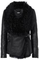 Barbara Bui Shearling Lamb/Leather Moto Jacket