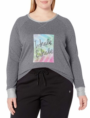 Fruit of the Loom Fit for Me Women's Plus Size Dual Face Sweatshirt