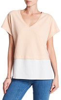 Maac London Short Sleeve Hi-Lo Blouse