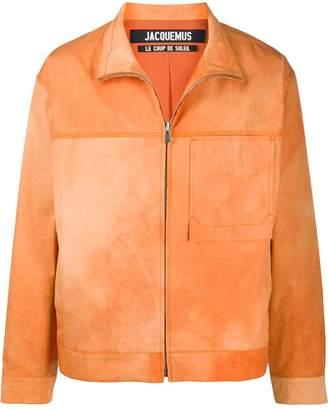 Jacquemus zip-front stand-collar jacket