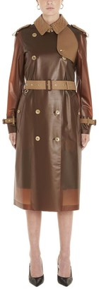 Burberry Gifford Collared Belted Double Breasted Trench Coat