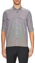 Valentino Cotton Checkered Spread Collar Sportshirt