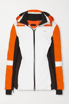 Kjus Formula Color-block Hooded Down Ski Jacket - Orange