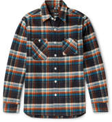 Beams Slim-Fit Checked Cotton-Flannel Shirt