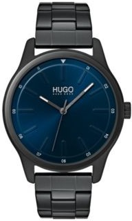 HUGO BOSS Link-bracelet watch with blue dial