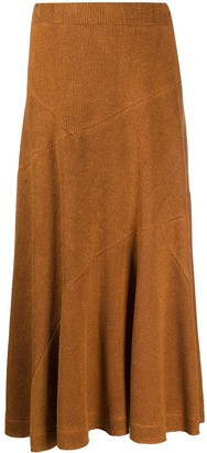 Jil Sander Knitted Panel Maxi Skirt