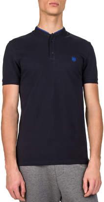 The Kooples Men's Officer Collar Short-Sleeve Polo Shirt