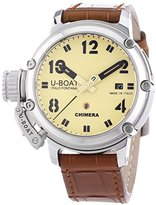 U-Boat Chimera Automatic Beige Dial Brown Leather Watch 7227