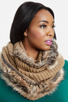 Fashion to Figure Juno Knit and Faux Fur Infinity Scarf