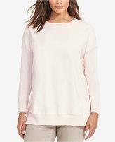 Lauren Ralph Lauren Plus Size Twill-Front Sweater