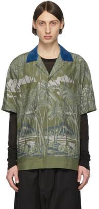 Sacai Khaki Sun Surf Edition Diamond Head Short Sleeve Shirt