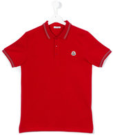 Moncler embroidered logo polo shirt - kids - Cotton - 14 yrs