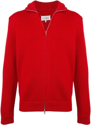 Maison Margiela Ribbed Zip-Up Cardigan