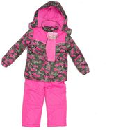 Pink Platinum Girls 4-6x Heavyweight Camo Jacket & Solid Bib Snow Pants Set