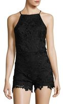 Design Lab Lord & Taylor Sleeveless Embroidered Romper
