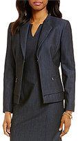 Preston & York Fina V-Neck Stretch Denim Suiting Jacket