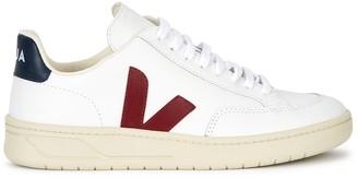 Veja V-12 White Leather Sneakers