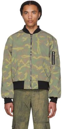 Resort Corps Green T-Shirt Panel Bomber Jacket