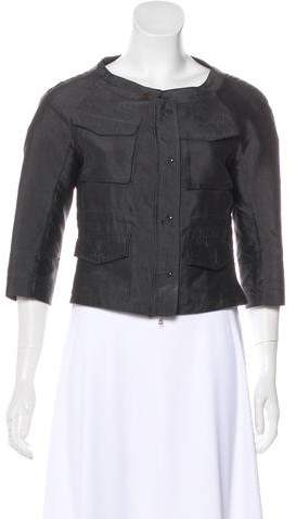 Dries Van Noten Silk Long Sleeve Jacket