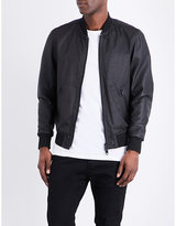 Diesel L-Powell leather bomber jacket