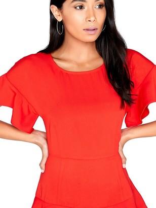 Girls On Film Tiered Ruffle Dress - Red