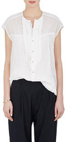 Pas De Calais Women's Ruffle-Trimmed Cotton Gauze Blouse