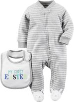 Carter's Easter Footie w/ Bib (Baby) - Heather-6 Months
