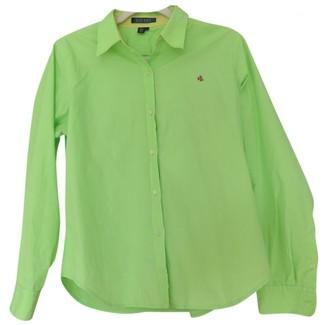 Lauren Ralph Lauren Green Cotton Top for Women