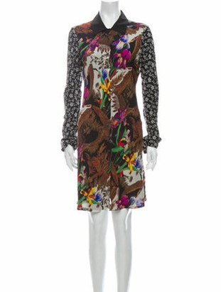 Etro Printed Knee-Length Dress Black