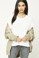 Forever 21 FOREVER 21+ Ribbed Sweater-Knit Top