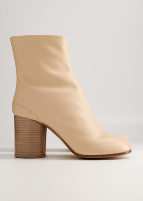 Maison Margiela Women's Tabi Boot in Nude, Size 36 | Leather