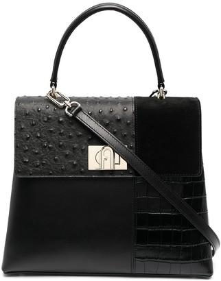 Furla Multi-Panel Top Handle Bag