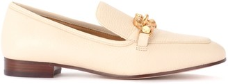 Tory Burch Jessa Moccasin In Ivory Grained Leather