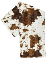 Pier 1 Imports Fuzzy Faux Cowhide Throw
