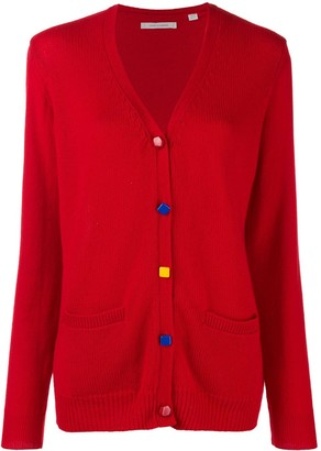 Chinti and Parker Contrast Elbow-Patch Cardigan