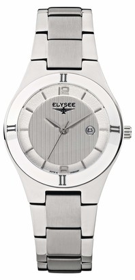 Elysee Unisex Adult Analogue Quartz Watch with Stainless Steel Strap 33042