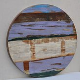 Antique Rustic Reclaimed Wood Round Table Top