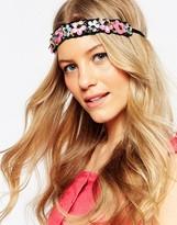 Asos Sequin Cluster Flower Headband