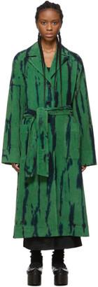 Raquel Allegra Green Cord Tie-Dye Coat