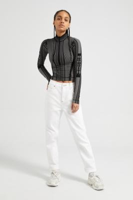 BDG Optic White Mom Jeans - White 24W 32L at Urban Outfitters