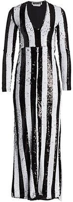 Rotate by Birger Christensen Hillary Stripe Gown