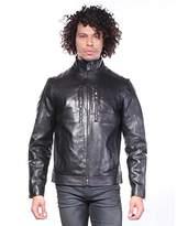Calvin Klein Men's Premium Perforated Leather Moto Jacket
