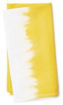 S4 S/4 Dip-Dye Napkins, Yellow