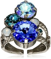 "Sorrelli Electric Blue"" Crystal Assorted Rounds Ring, Size 7-9"