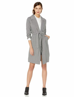Kensie Women's Houndstooth Trench Coat