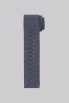 Moss Bros Petrol Blue Knitted Skinny Tie