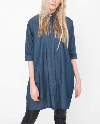 Beaumont Organic Felicity Cotton Denim Shirt - Navy / M/L - Blue