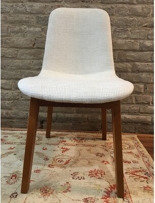 Corrigan Studioâ® Ryann Mid-Century Upholstered Dining Chair Corrigan StudioA Upholstery Color: Cream