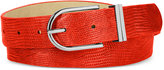 Style&Co. Style & Co. Lizard-Embossed Double Keeper Belt, Only at Macy's